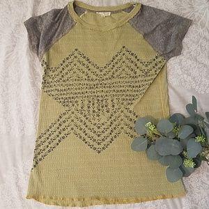 Hem & Thread Sweater Top Blouse S EUC Unique!